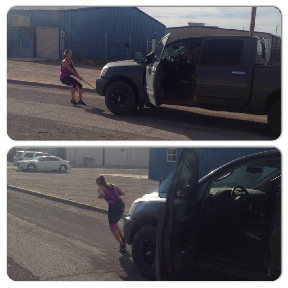 Fitness Transformation Claudia Pulling Vehicle2