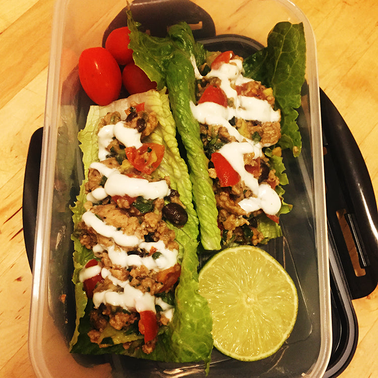 Meal Prep Sundays - Turkey Lettuce Wrap Tacos