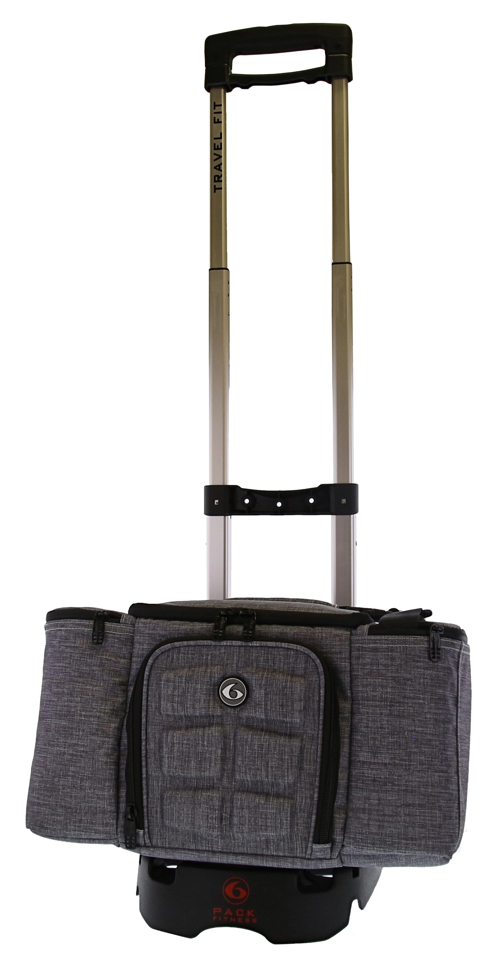 Trolley Bag and Luggage System - (Black/Silver)
