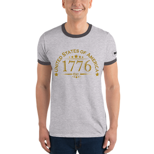 United Stated of America Ringer T-Shirt | Est. 1776 | Various Colors