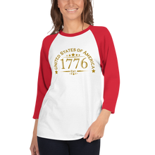 Load image into Gallery viewer, United Stated of America Raglan Jersey T-Shirt | Est. 1776 | Various Colors