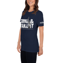 Load image into Gallery viewer, Come & Take It Lady Liberty AR-15 T-Shirt | Pro 2nd Amendment Tee | Gun Control Dark Colors