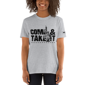 Come & Take It Lady Liberty AR-15 T-Shirt | Pro 2nd Amendment Tee | Gun Control Light Colors