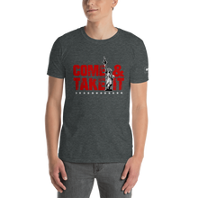 Load image into Gallery viewer, 2nd Amendment T-Shirt | Come & Take It Gun Control Shirt with Lady Liberty | Red On Dark Colors