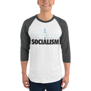 Find The Cure Raglan Jersey T-Shirt | Socialism | Various Colors