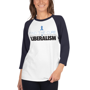 Find The Cure Raglan Jersey T-Shirt | Liberalism | Various Colors