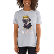 Load image into Gallery viewer, Trump Pug T-Shirt | I Vote Re-Pug-Lican | Dark Colors