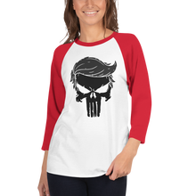 Load image into Gallery viewer, Trump Punisher Raglan Jersey T-Shirt | Blacked Out | Various Colors