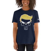 Load image into Gallery viewer, Trump Punisher T-Shirt | Outlined Skull | Dark Colors
