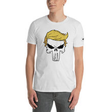 Load image into Gallery viewer, Trump Punisher T-Shirt | Outlined Skull | Light Colors