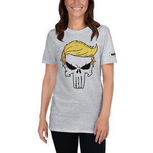 Trump Punisher T-Shirt | Outlined Skull | Light Colors