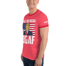 Load image into Gallery viewer, Trump Ringer T-Shirt | Call The Media | IDGAF | Dark Colors