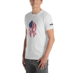 American Flag Spartan Helmet T-Shirt | Stand Alone Helmet | Light Colors