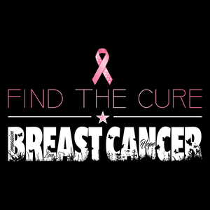 Find The Cure T-Shirt | Breast Cancer | Dark Colors