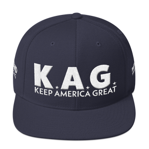 Ultimate Keep America Great Hat 3D Puff Embroidered In Dark Colors | White Embroidery