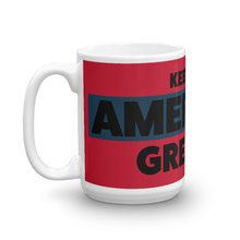 Load image into Gallery viewer, Keep America Great Coffee Mug | Large Black On Red Text