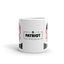 Load image into Gallery viewer, Live Free or Die American Spartan Flag Coffee Mug | Light Color