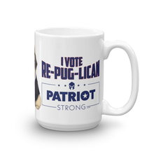 Load image into Gallery viewer, Trump Pug Republican Mug | I Vote Repuglican Coffee Mug #2 | Light Color