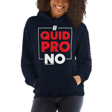 Load image into Gallery viewer, #Quid PRO NO Trump Anti-Impeachment Inquiry Hoodie | Dark Colors