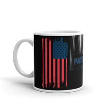 Load image into Gallery viewer, American Flag Mug | Distressed USA Flag Coffee Mug | Dual Image On Black