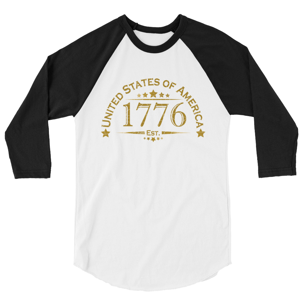 United Stated of America Raglan Jersey T-Shirt | Est. 1776 | Various Colors