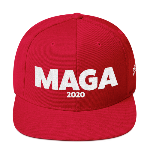MAGA 2020 | White Embroidered Red Hat