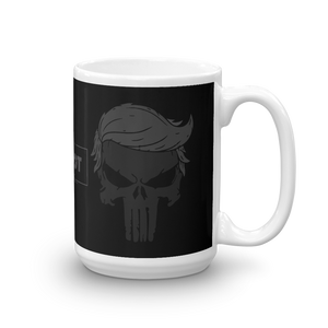Trump Punisher Blacked Out Coffee Mug | Dark Color