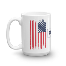 Load image into Gallery viewer, American Flag Mug | Distressed USA Flag Coffee Mug | Dual Image On White