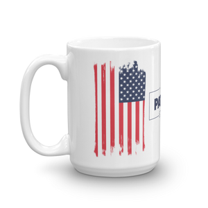 American Flag Mug | Distressed USA Flag Coffee Mug | Dual Image On White