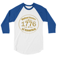 Load image into Gallery viewer, 1776 United Stated of America Raglan Jersey T-Shirt | Various Colors