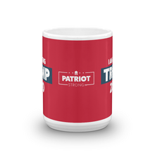 Load image into Gallery viewer, Vote Trump 2020 Mug | I Am Voting Trump 2020 Coffee Mug | White On Red