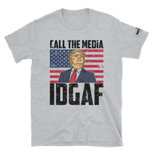 Load image into Gallery viewer, Trump T-Shirt | Call The Media | IDGAF | Light Colors
