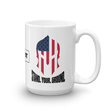 Load image into Gallery viewer, Stand Your Ground American Spartan Flag Coffee Mug | Light Color