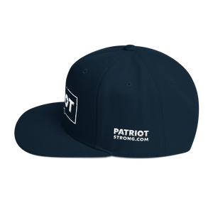 Patriot Strong 3D Puff Embroidered Red Color Premium Hat | White Embroidery