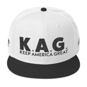 Ultimate Keep America Great Hat 3D Puff Embroidered In Light Colors | Black Embroidery