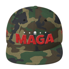 Load image into Gallery viewer, Ultimate MAGA Hat With Red 3D Puff Embroidery in Camouflage | Dark Colors