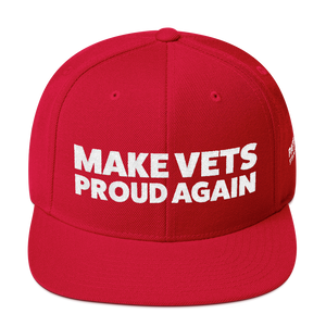 Make VETS Proud Again Hat | White Embroidery On Various Colors