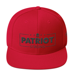 Patriot Strong 3D Puff Embroidered Natural & Black Premium Hat | Black Embroidery