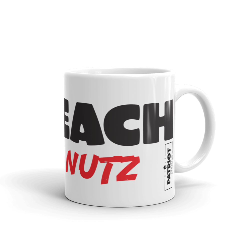 Trump Impeachment Inquiry Mug | Impeach Deez Nuts Funny | Light Coffee Mug