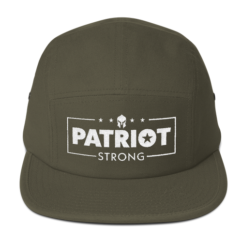 Patriot Strong Five Panel Low Profile Olive Embroidered Cap | Dark Colors