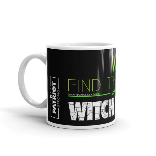 Anti Political Witch Hunt Mug | Find The Cure Witch Hunts Coffee Mug | Dark Color