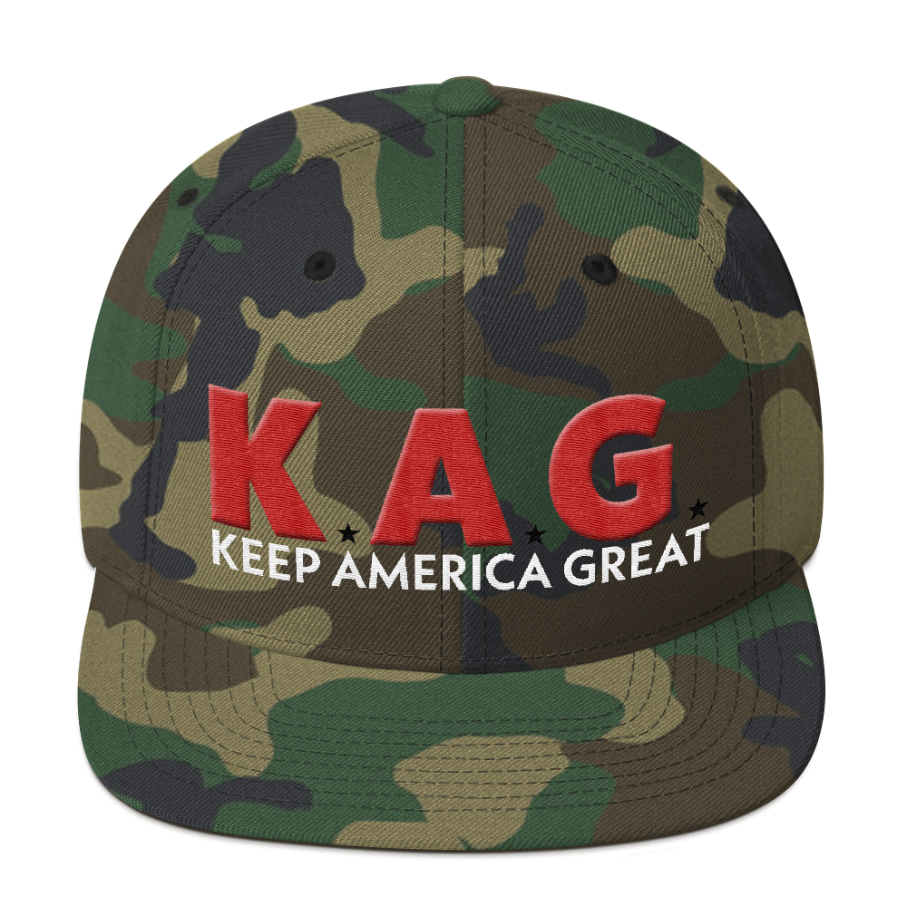 K.A.G. Keep America Great Hat With Red 3D Puff Embroidery | Various Colors Available