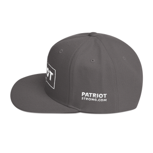 Patriot Strong 3D Puff Embroidered Heather Color Premium Hat | White Embroidery