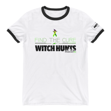 Load image into Gallery viewer, Find The Cure Ringer T-Shirt | Political Witch Hunts | Various Colors