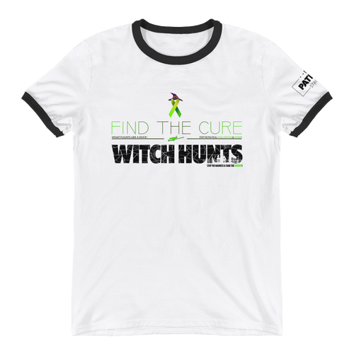Find The Cure Ringer T-Shirt | Political Witch Hunts | Various Colors