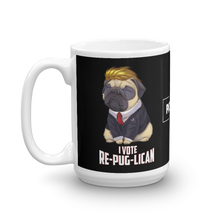 Load image into Gallery viewer, Trump Pug Republican Mug | I Vote Repuglican Coffee Mug #1 | Dark Color