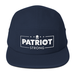 Patriot Strong Five Panel Camouflage Low Profile Embroidered Cap | Dark Colors