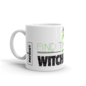 Anti Political Witch Hunt Mug | Find The Cure Witch Hunts Coffee Mug | Light Color