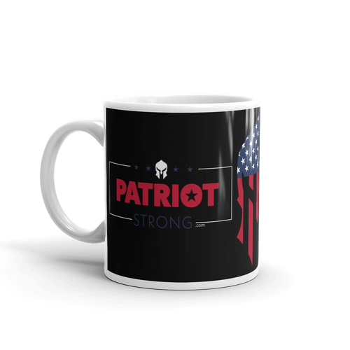 American Spartan Flag Patriot Strong Coffee Mug #2 | Dark Color