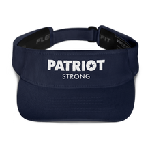 Load image into Gallery viewer, Patriot Strong Blue Embroidered Visor | Dark Colors